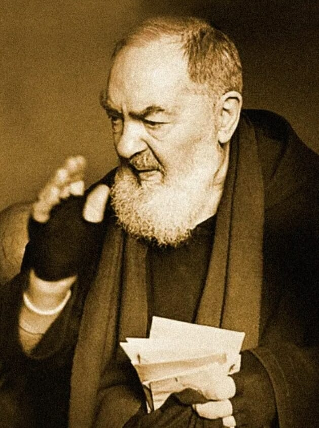 St Padre Pio of Pietrelcina –<br> venerated at St. Mary of the Angels